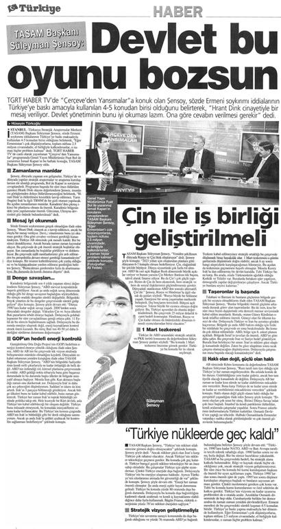 TASAM Başkanı ile Yapılan Röportaj.